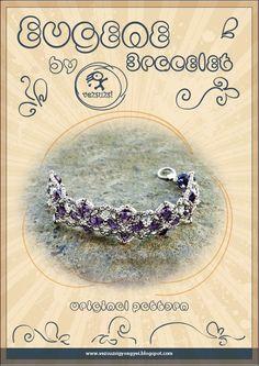 Bracelet tutorial / pattern Eugene bracelet. PDF instruction for personal use only. $11.00, via Etsy.