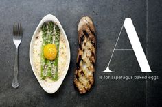 A is for asparagus baked eggs