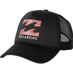 Billabong Unisex Podium Trucker Hat ($12) ❤ liked on Polyvore featuring accessories, hats, robbo pulse, trucker hats, adjustable hats, curved brim snapback, snapback trucker cap and truck caps