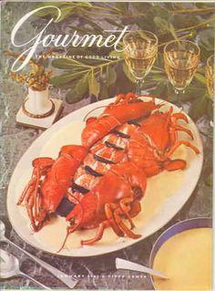 Gourmet Magazine covers. Here, January 1962.