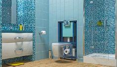 Homeplaza - Komplett-Set ist die perfekte Lösung für ein nachträglich errichtetes Bad - Ein Kraftpaket als Leistungsträger