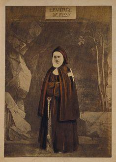 """Ermitage de Passy"": Countess de Castiglione by Pierre-Louis Pierson. Date: 1863. Albumen silver print painted in gouache"