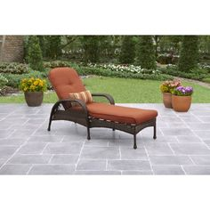 Santorini Patio Chaise Lounger With Cushion | Products | Pinterest | Patio,  Outdoor And Patio Chaise Lounge