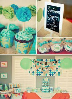 Dinosaur Party. Awesome!! So hard to find cute boy party inspiration. Definitely gonna do this one