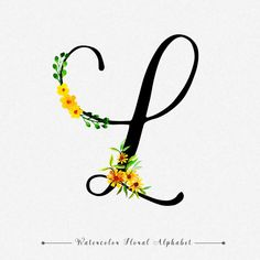 Letter l watercolor floral background Vector Floral Letters, Monogram Letters, Letter L Tattoo, Quilling Letters, Happy Anniversary Cards, Name Wallpaper, Beautiful Lettering, Cricut Craft Room, Alphabet Print