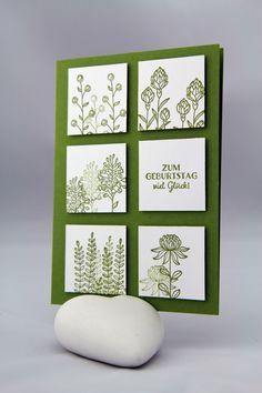 Geburtstag -Stampin Up Flowering Fields, In Partystimmung - ein Designerstück von StempelLeo bei DaWanda
