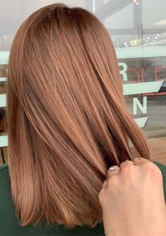 Red Hair With Highlights, Color Streaks, Color Highlights, Short Red Hair, Short Auburn Hair, Brown Auburn Hair, Brown To Red Hair, Straight Red Hair, Auburn Blonde Hair