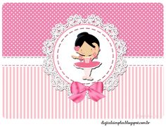 "tampinha marmita Kit de Personalizados Tema ""Bailarina Rosa"" para Imprimir - Convites Digitais Simples"