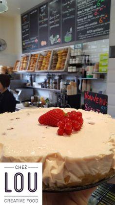 Cheesecake fraises groseilles (bio), par Lou