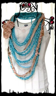 Crocheted Tee Shirt Necklace