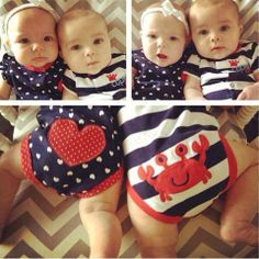 4th of july twin outfits