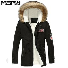 MISNIKI Hot Selling Autumn Winter Long Parka Men Casual Slim Fit Hood Winter Jackets… #BlackFriday is coming early #BestPrice #CyberMonday