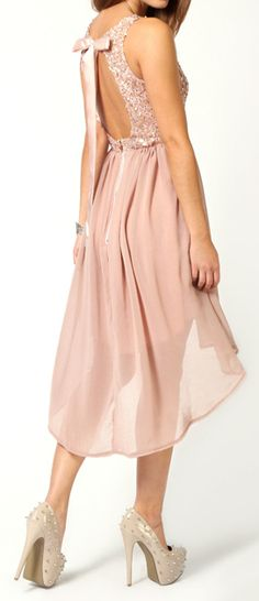 Romantic blush dress