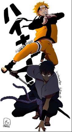 Kagehina Haikyuu // Crossover I never knew I need this till now. Kageyama is way better than Sasuke though