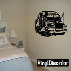 Semi Truck Wall Decal - Vinyl Decal - Car Decal - DC 033