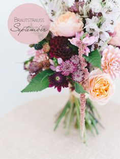 Boho Wedding/ Hochzeit Bridal bouquet gallery: Warm berry tones in September Wedding Planner Congrat Bridal Bouquet Fall, Silk Wedding Bouquets, Fall Bouquets, Wedding Flower Arrangements, Bridal Flowers, Flower Bouquet Wedding, Purple Bouquets, Flower Bouquets, Floral Arrangements