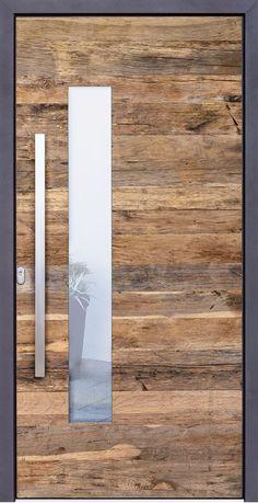 Front doors with old wood- Haustüren mit Altholz Front doors with old wood - Front doors with old wood- Haustüren mit Altholz Front doors with old wood - White Wooden Doors, Wooden Front Doors, Wood Doors, White Doors, House Main Door Design, Front Door Design, House Design, Frosted Glass Interior Doors, Interior Barn Doors