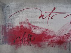rerylikes:  Francesca Biasetton. asemic red, detail [artist found at workman & justanothermasterpiece]