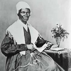Sojourner Truth and Harriet Tubman were two African-American women, women of faith, former slaves treated badly in their servitude but able to escape, who became leaders in the abolitionist movement.  This is Sojourner Truth!