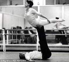 "Margot Fonteyn and Rudolf Nereyev ""Margot and Nureyev practise their moves in 1968""    Read more: http://www.dailymail.co.uk/home/you/article-1214125/Margot-Fonteyn--woman-legend.html#ixzz2DMQvwBT3"
