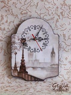 Декупаж - Сайт любителей декупажа - DCPG.RU   Часы и сказка) Click on photo to see more! Нажмите на фото чтобы увидеть больше! decoupage art craft handmade home decor DIY do it yourself clock