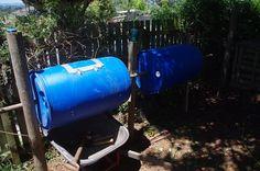 Blue Barrel Compost Tumblers
