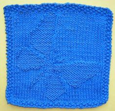 Free Butterfly Dish Or Face Cloth Knitting Pattern
