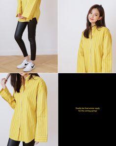 オーバーサイズストライプシャツ・全3色
