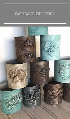 garrafas-de-leite-decoracao-com-latas-artesanato-com-latas-ideias-de-recic/ delivers online tools that help you to stay in control of your personal information and protect your online privacy. Tin Can Crafts, Crafts To Make, Arts And Crafts, Crafts With Tin Cans, Coffee Can Crafts, Jellyfish Facts, Jellyfish Drawing, Jellyfish Quotes, Jellyfish Painting
