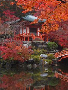 10 Best Things to do in Kyoto, Japan. One of the best towns in Japan. Daigoji Temple in Kyoto! This Buddhist temple is incredibly old; it was first constructed 874 and pictures can't do it justice. Chinese Architecture, Futuristic Architecture, Places To Travel, Places To Go, Magic Places, Tokyo Hotels, Visit Japan, Japan Art, Japan Japan