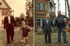 Father and son, 1949 and 2009.