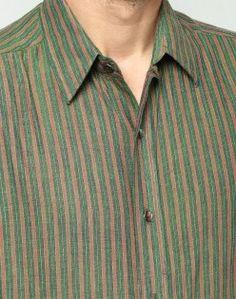 Cotton Dobby Regular Collar Fitted Shirt