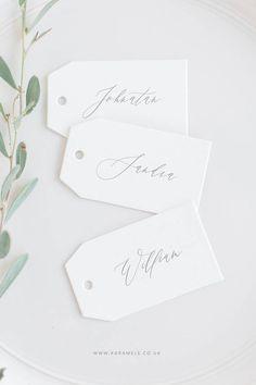 Wedding Name Tags / Custom name tags / Name cards / Hang tags