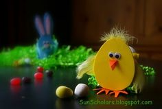 Chicks and Bunnies from Easter Eggs - Tutorial