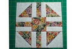 """Paths and Stiles is an easy patchwork quilt block pattern that finishes at 9"""" square and offers lots of opportunities for customization."""