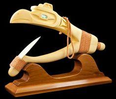 Halibut Hook - Raven by David Guthert American Spirit, Native American, Halibut Fishing, Sculpture Art, Metal Sculptures, Indian Scout, Indigenous Art, Native Art, Sacred Geometry