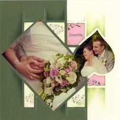 modele album photo mariage scrapbooking