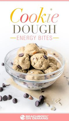 Try this health(ier) cookie dough version made with Shakeology, you won't believe it's good for you! Shakeology recipes // healthy dessert recipes // cookie dough reci Day Fix Recipes Cookies) Healthy Dessert Recipes, Yummy Snacks, Gourmet Recipes, Healthy Meals, Healthy Eating, Healthy Breakfasts, Drink Recipes, Balls Recipe, Dough Recipe
