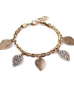 Brățară Sisao cu frunze și pietricele Fashion 2016, Charmed, Bracelets, Jewelry, Jewlery, Bijoux, Schmuck, Jewerly, Bracelet