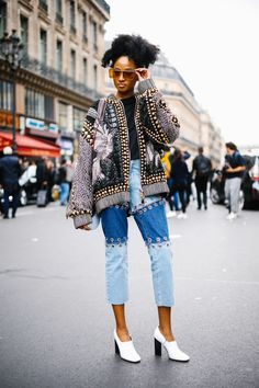 Who knew holes in jeans could look so chic?