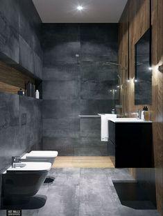 Grey Bathroom Ideas: Stylish Inspirations for a Minimalist Home - bathroom ideas inspirations minimalist stylish - new Bathroom grey 687854543073945240 Spa Bathroom Design, Slate Bathroom, Bathroom Spa, Bathroom Wall Decor, Bathroom Layout, Bathroom Flooring, Bathroom Ideas, Bathroom Mirrors, Bathroom Cleaning