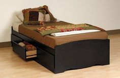 Like this bed for Micah since he is too long for his current one that has a footboard.