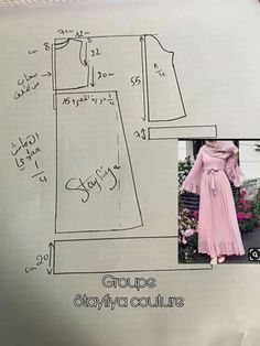 How to make your simple abaya tunic dress Dress Sewing Patterns, Sewing Patterns Free, Clothing Patterns, Abaya Pattern, Pants Pattern, Sewing Pants, Sewing Clothes, Stitching Dresses, Couture Sewing
