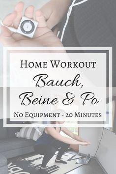 Home Workout Bauch Beine & Po - No Equipment - 20 Minutes