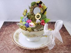 Alice in Wonderland Tea Cup Centerpiece or Cake by thefaerywatcher, $75.00
