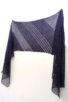 Purple Shine shawl with Lanitium ex Machina Silky Merino Fingering in colorway Twilight Zone - knitting pattern by Janina Kallio.