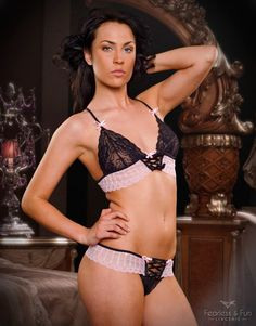 Lingerie Set ISABELLA  Beautiful light pink thin by FAFlingerie, $12.00