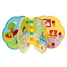 Ce livre imagier sonore regorge de surprises : votre enfant développe son habileté en tournant les pages, son langage en nommant les images, son ouïe en écoutant les sons et les mélodies, son toucher en passant ses doigts sur les zones de texture.