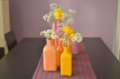 Painted Vases For Wedding