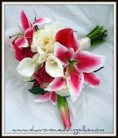 Calla, Starburst lilies with roses